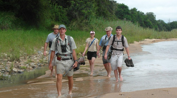 African wilderness safari on foot